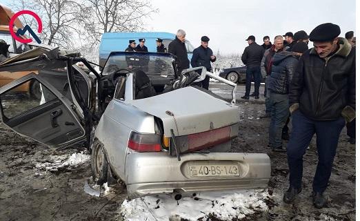 Quba-Xaçmaz yolunda qəza - 3 nəfər öldü + Foto