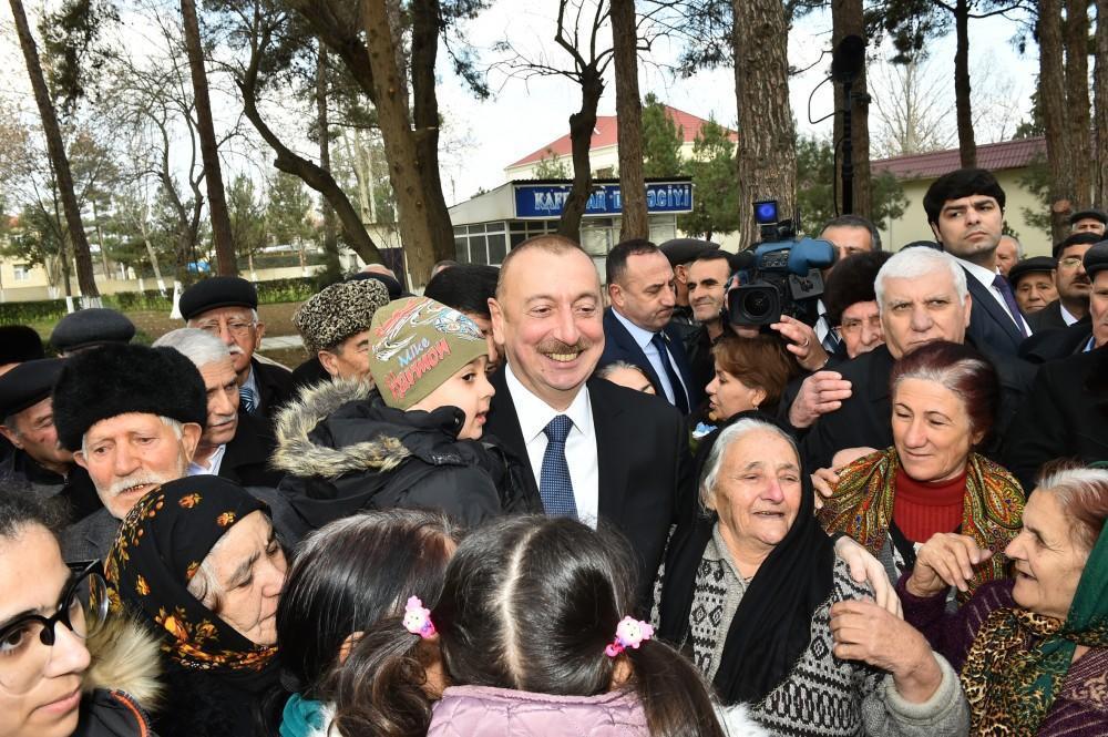 """Prezident İlham Əliyev: """"Mən həmişə xalqın dəstəyinə arxalanmışam, mənə güc verən xalqın mənə olan inamıdır"""""""