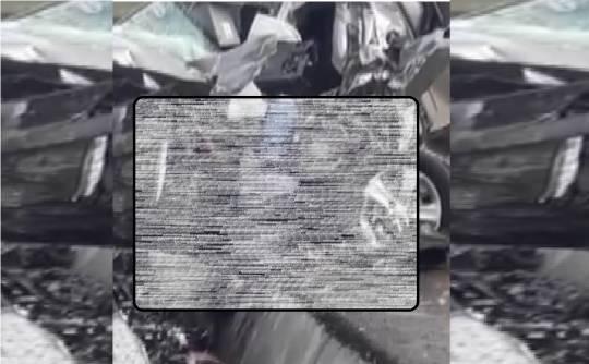 Balakəndəki qəzanın dəhşətli görüntüsü yayıldı – Meyit maşında qalıb – VİDEO 18+