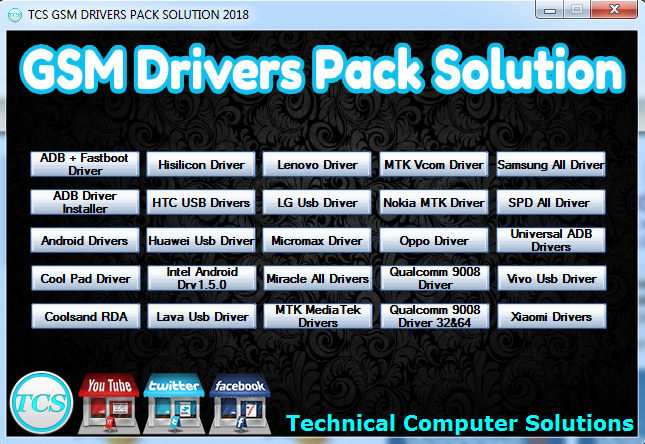 TCS GSM drivers Pack