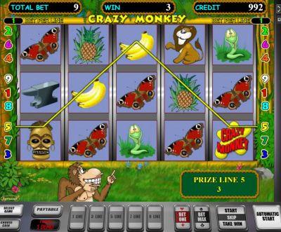 Crazy Monkey — автомат с большими возможностями