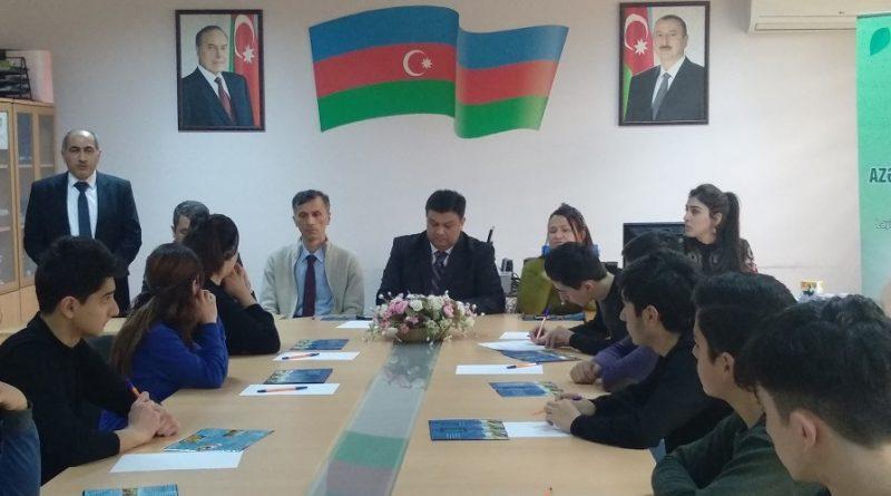"""Bakı Texniki Kollecində """"Azərbaycan – tükənməz xəzinə!"""" layihəsinin müzakirəsi keçirilib – FOTOLAR"""